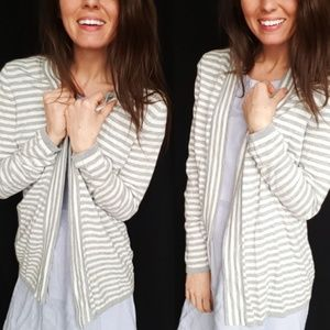 Talbot striped open front cardigan -C2